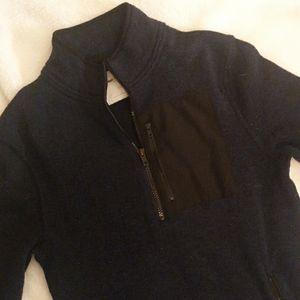 Navy 1/2 zip sweater
